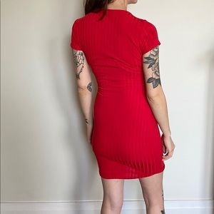Red Bodycon Shirtdress